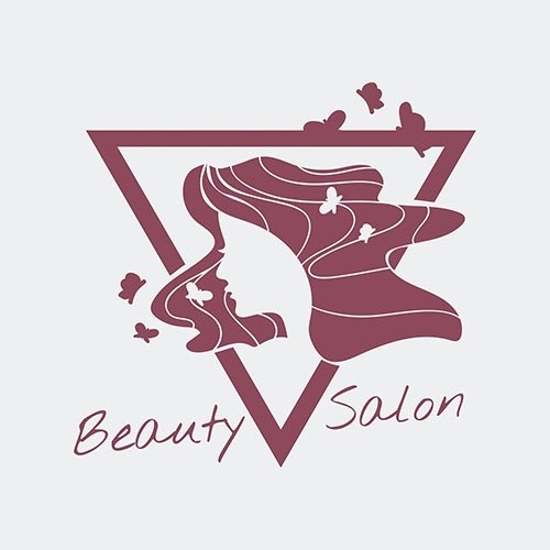 Womens beauty salon logo vector