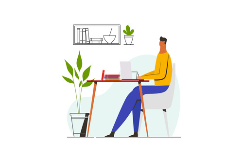 Work from home illustration vector