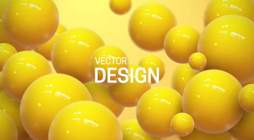 Yellow sphere abstract background vector