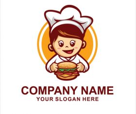 burger chef logo vector