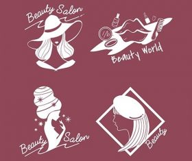 womens beauty and style icons vector