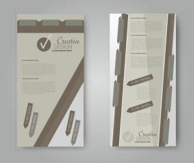 2 beige business advertising templates vector