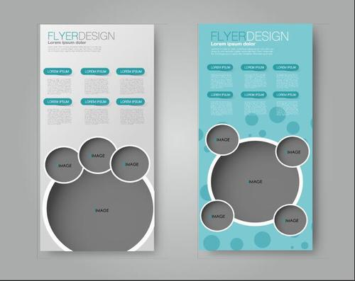 2 commercial advertising templates vector