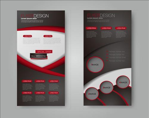 2 different styles of commercial advertising templates vector