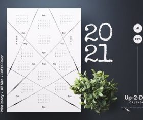 2021 Calendar Template vector
