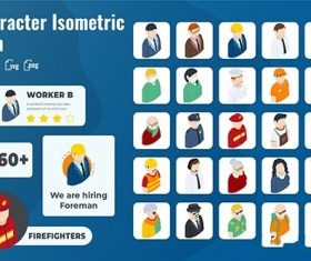 25 Iconset Isometric Character vector