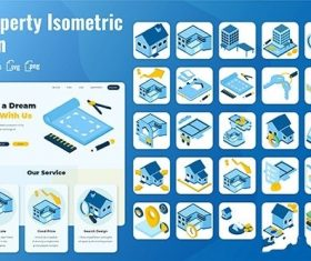 25 Iconset Isometric Property vector