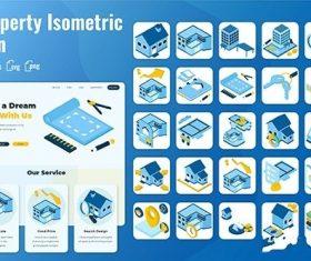 25 Iconset Isometric Property vector