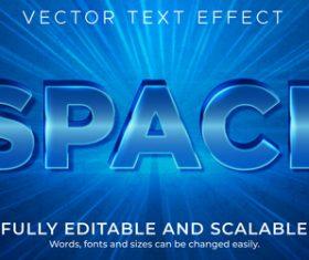 3d blue editable text style effect vector