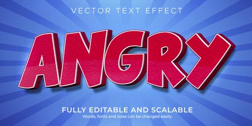 3d dark blue editable text style effect vector