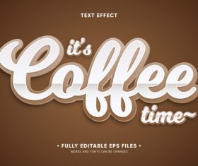 3d white font editable text style effect vector