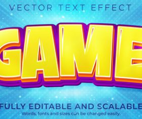 3d yellow editable text style effect vector