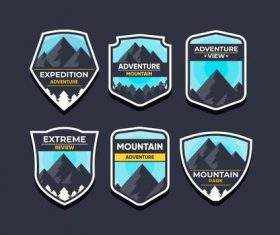 Adventure mountain symbols vector set