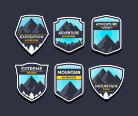 Adventure mountain symbols vector set