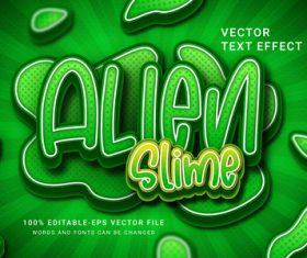 Alien slime vector text effect