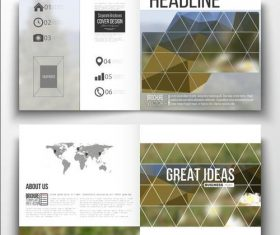 Angular blur background business brochure template vector