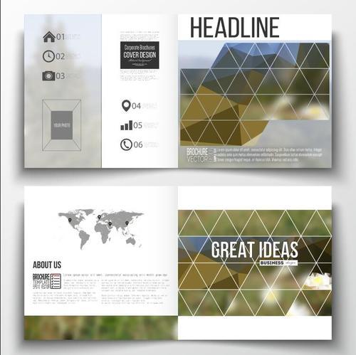 Angular blur background business brochure template vector