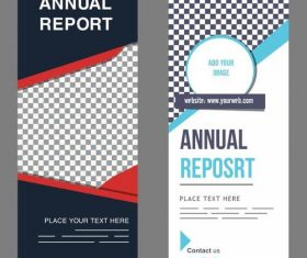 Annual report standee banner vector