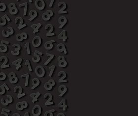 Arabic numerals black background vector