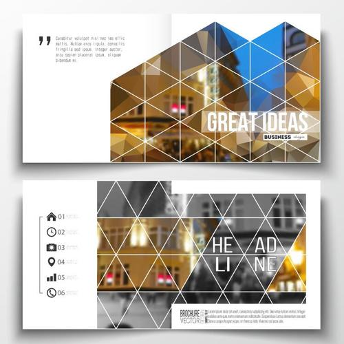 Architectural background business brochure template vector