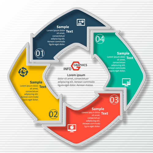 Arrow graphics info vector