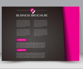 Art cover business brochure vector