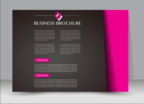 Art cover business brochure vector