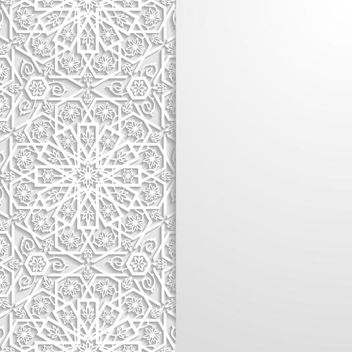 Art paper cut flower vector