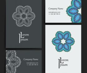 Art pattern company business card vector