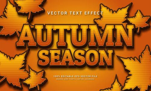 Autumn season vector text effect