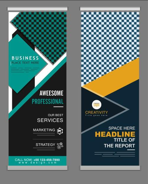 Aweesome professional standee banner vector