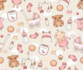 Baby element wallpaper background vector