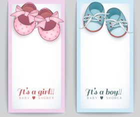 Baby shoes seamless background vector