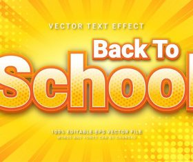 Back to school vector text effect