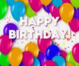 Balloon hearts birthday card vector