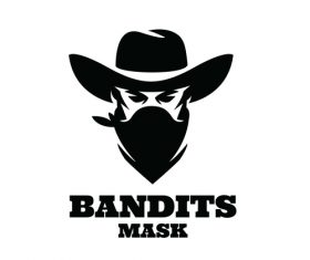 Bandits mask icon design vector