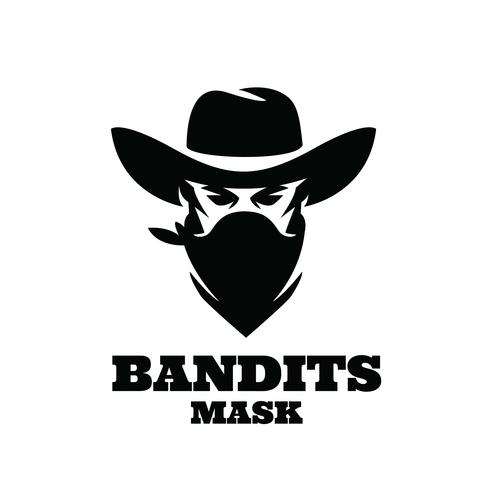 Bandits mask icon design vector