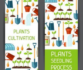 Banner cultivation vector