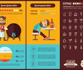 Bar infographic elements vector