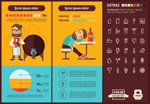 Bar infographic elements vector