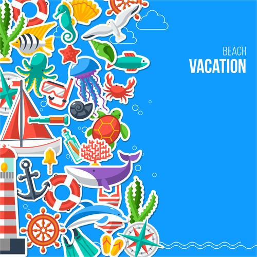 Beach vacation vector
