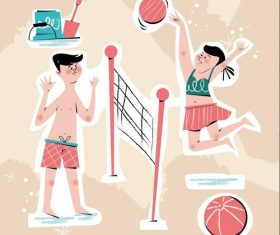 Beah volleyball vector