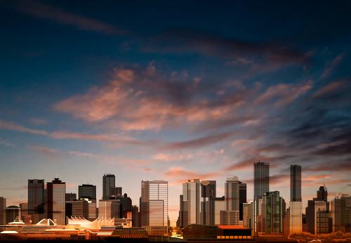 Beautiful city landscape vector