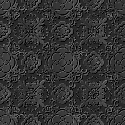 Beautiful embossed decorative pattern vector
