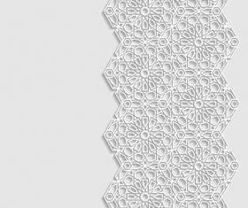 Beautiful pattern paper cut flower vector