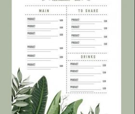 Beautifully designed restaurant menu vector