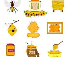 Beekeeping icon vector