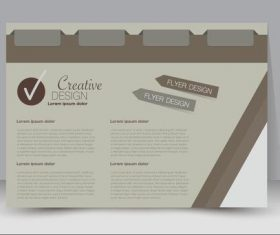Beige creative business advertising template vector