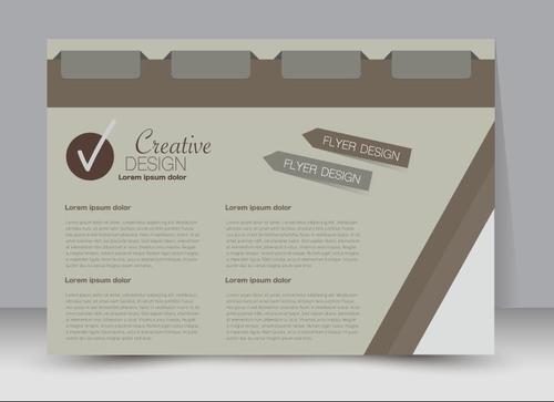 Beige creative business advertising template vector