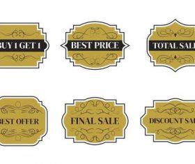 Beige sale label vector